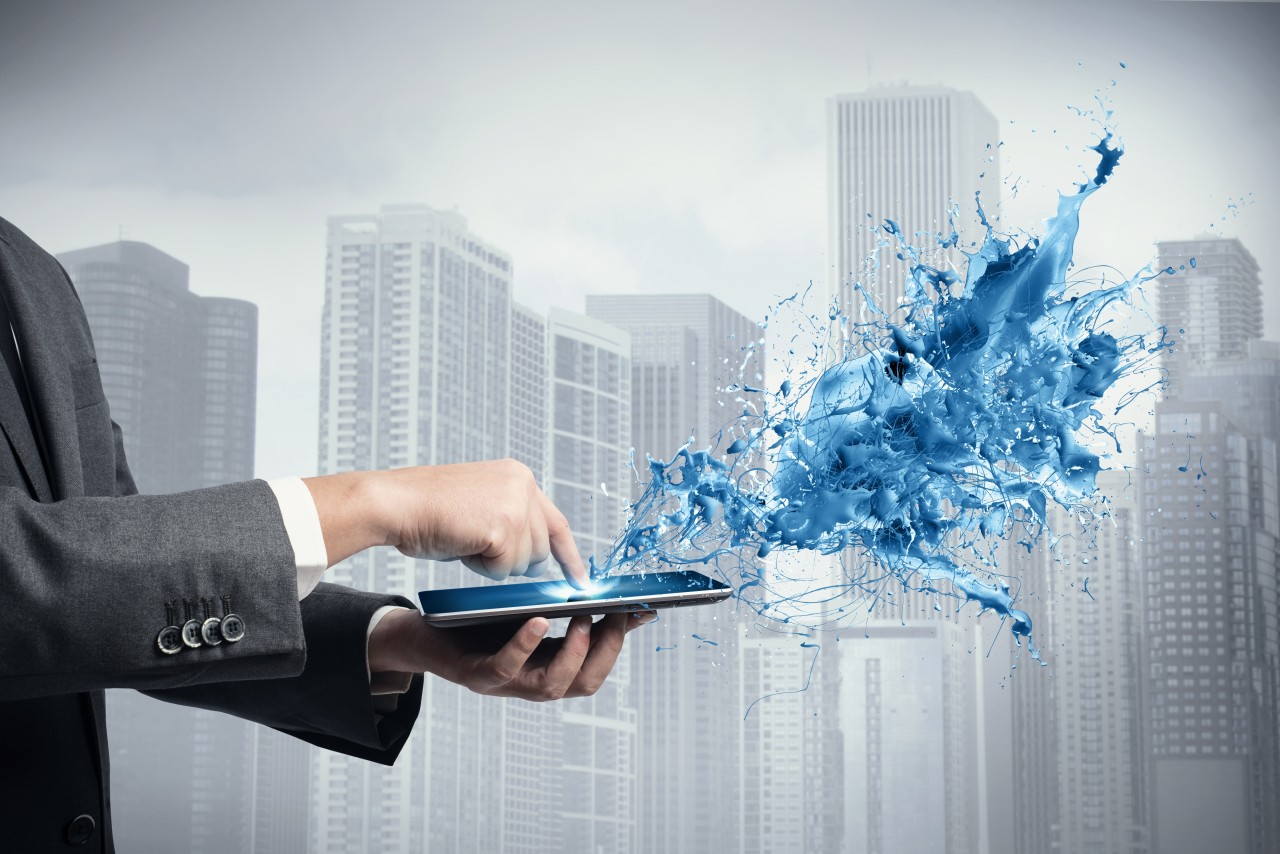 concept-of-creative-technology-with-businessman-and-tablet