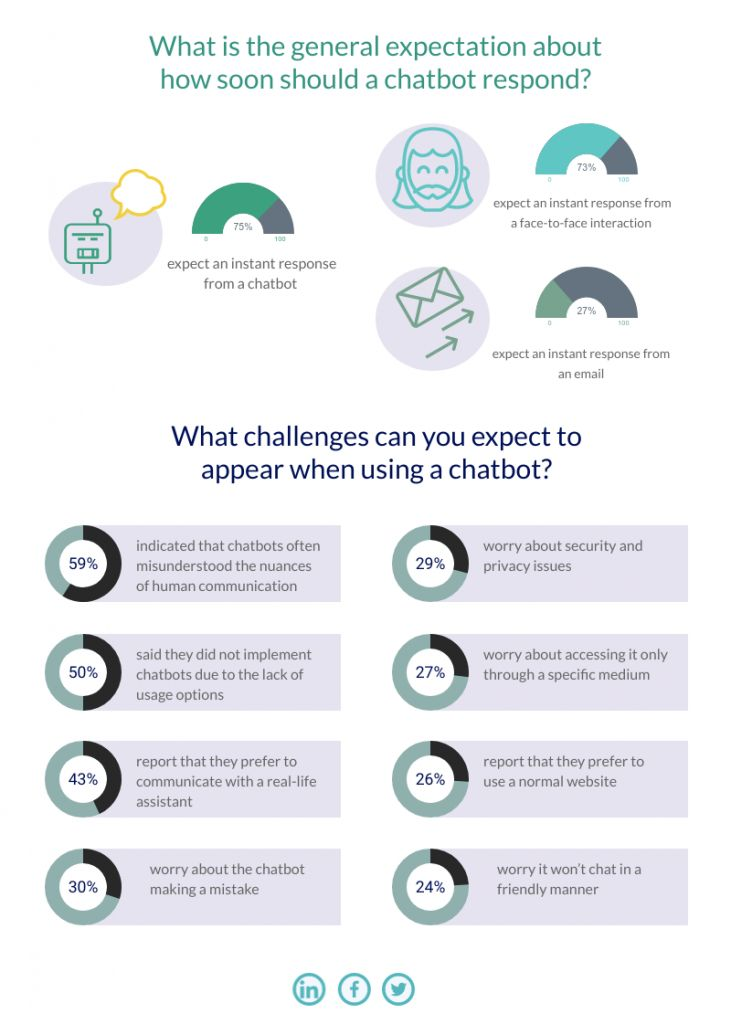 Expectations and challenges from a chatbot